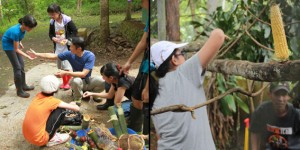 Kids-learning-to-help-the-animal-rehabilitation-activities-in-center-by-setting-the-enrichment